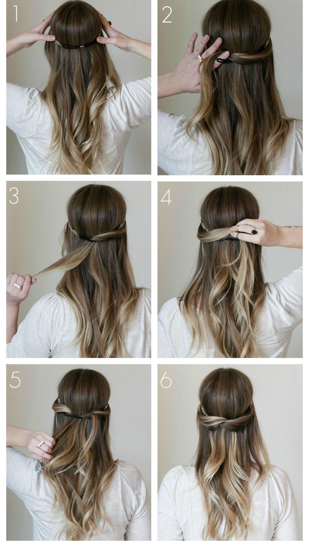 peinado de semi recogido que se puede hacer en pocos minutos - Peinados Sencillos