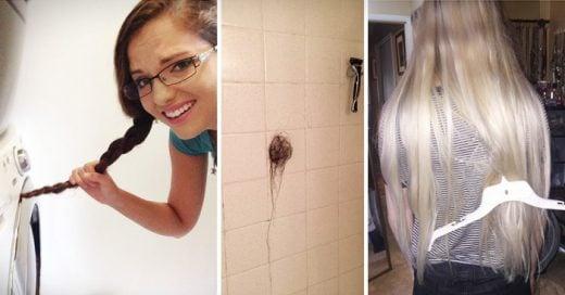 lo que tiene que sufrir una persona de pelo largo