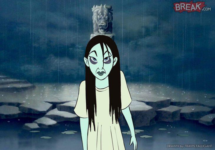 Princesa Mulan como la niña del aro
