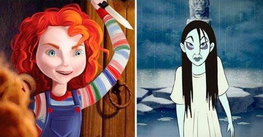 así lucirian las princesas si fueran villanas de películas de terror
