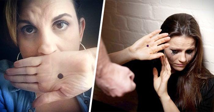 el punto negro en la mano significa auxilio