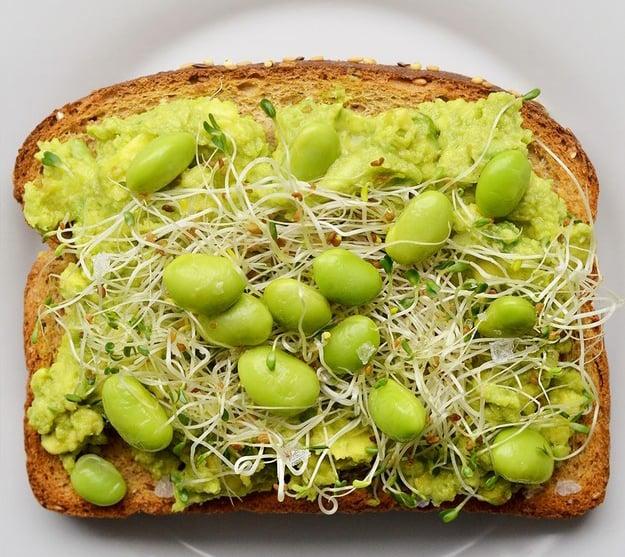 emparedado de frutos verdes