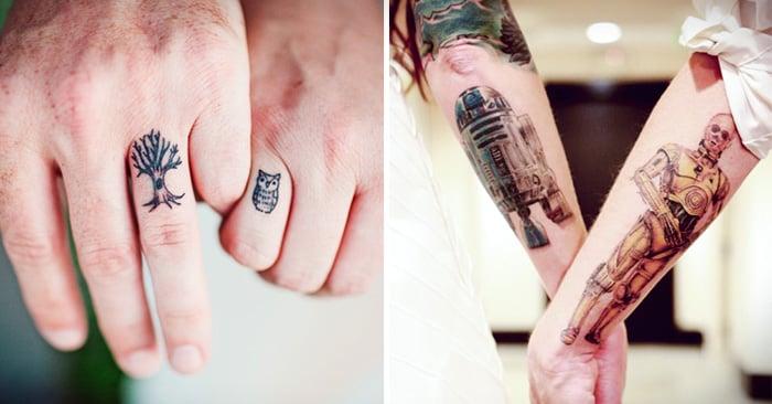 Ejemplos de tatuajes que se hacen las personas en pareja