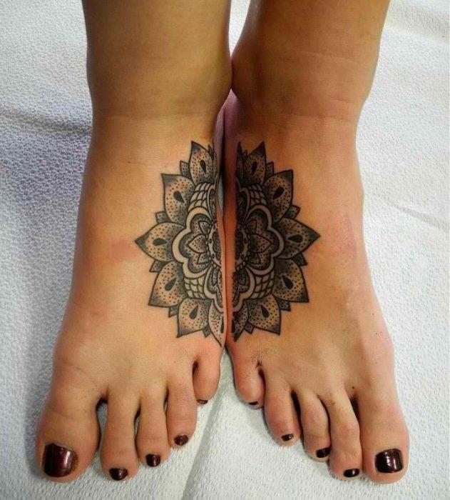 tatuajes madre e hijas mandala