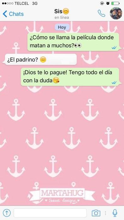captura de pantalla mensaje de texto