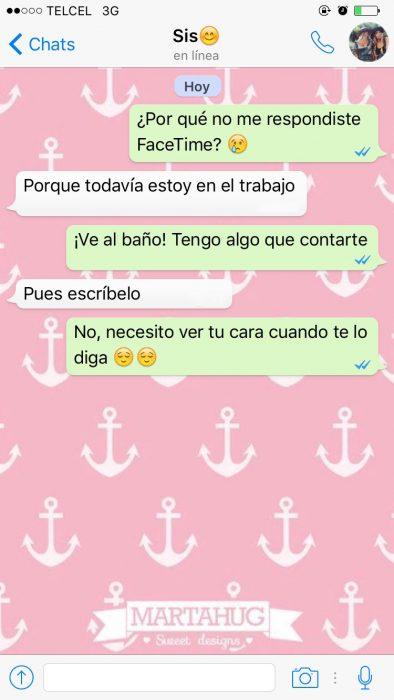 captura de pantalla mensajes de texto