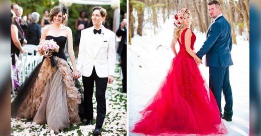 vestidos de novia que no tienen que ser necesariamente blancos