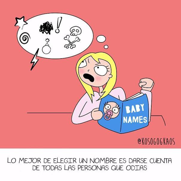 ilustración mujer embarazada enojada