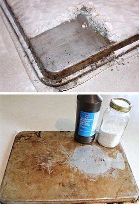 limpiar bandeja para hornear