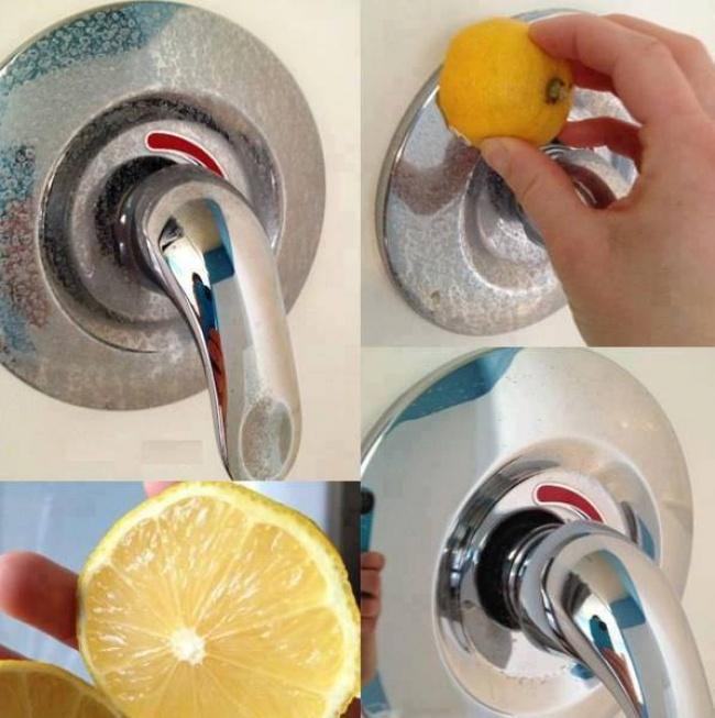 limpiar objetos metálicos baño con limón