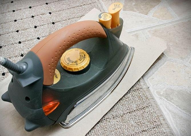 plancha de vapor para limpiar alfombras