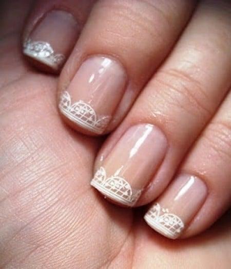 manicure francés encaje en punta
