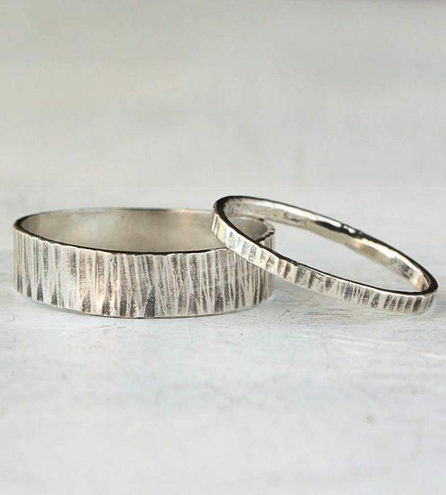 anillos de promesa diseño rustico