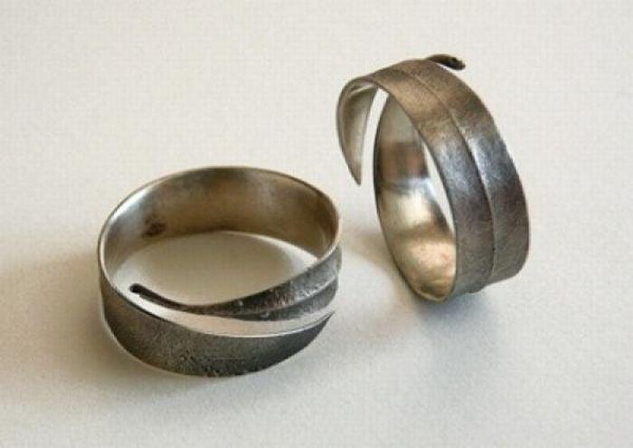 anillos de promesa hoja