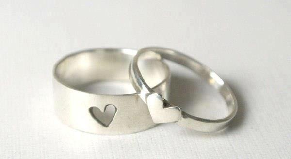 anillos de promesa corazón
