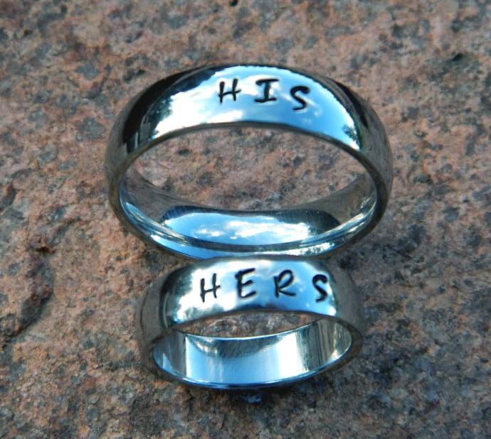 anillos de promesa el y ella