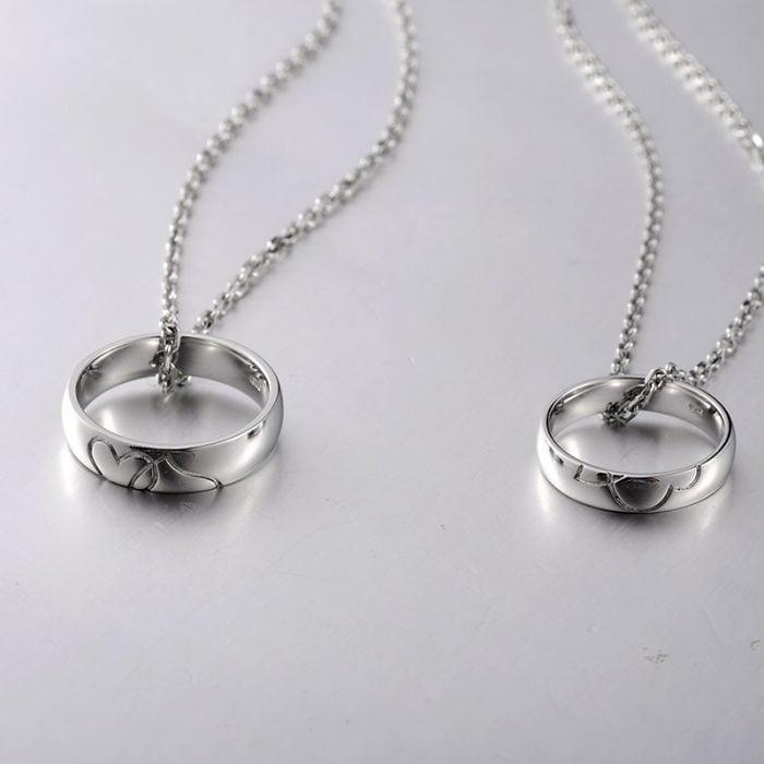anillos de promesa con cadena