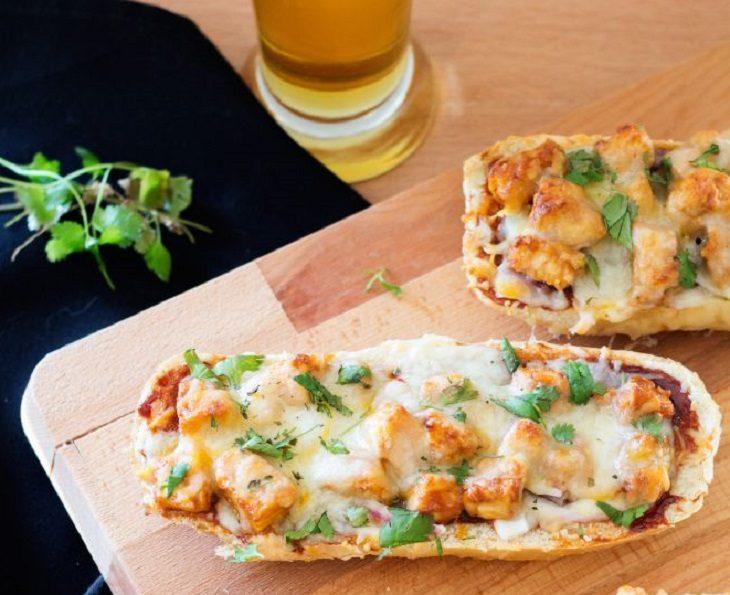 pan pizza de pollo