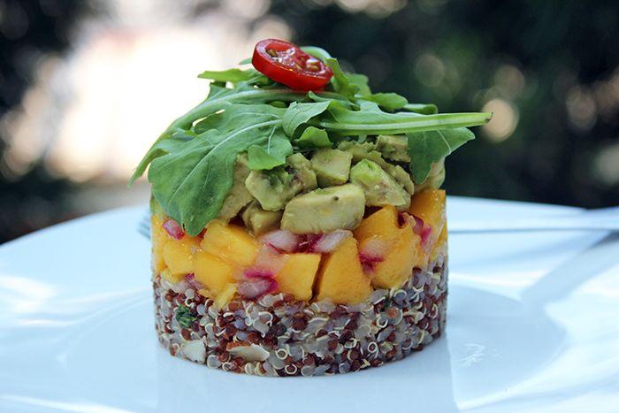 ensalada quinoa y mango