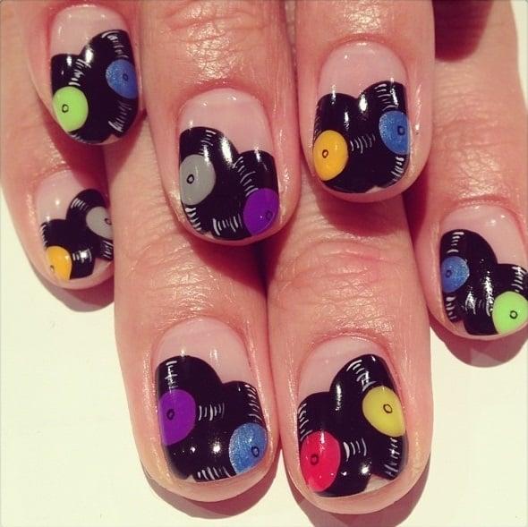 arte de uñas discos de acetato