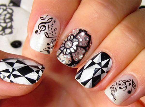 arte de uñas diseño en cada uña