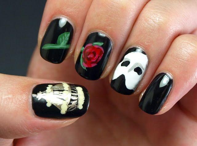 arte en uñas fantasma de la ópera