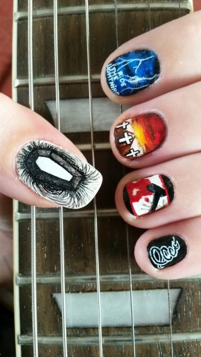 arte en uñas Metallica
