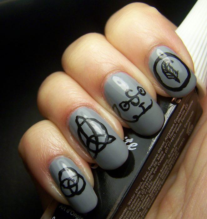 arte de uñas Led Zeppelin