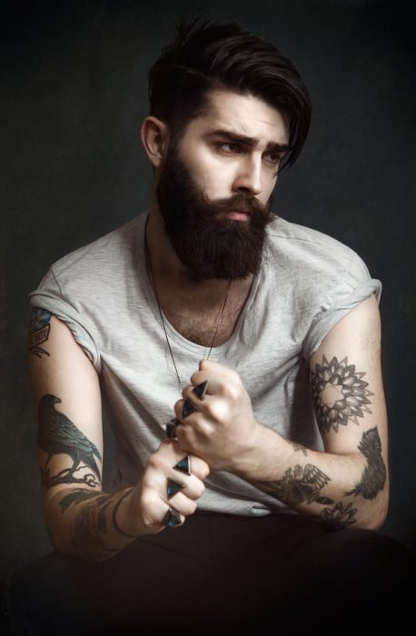 modelo barba hipster
