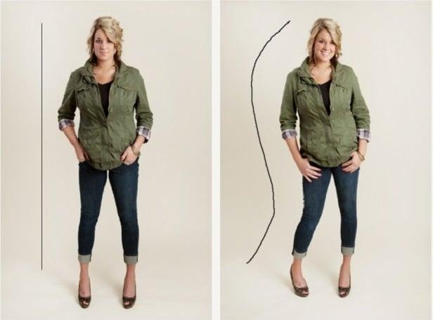 diferencia entre pose chica rígida y natural