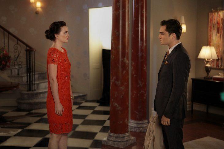 Escena de la serie gossip girls chuck y blair conversando