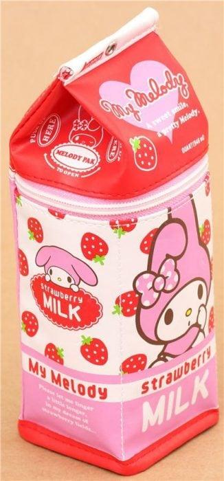 Estuche para lapices en forma de cartón de leche