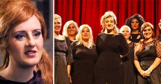 La cantante Adele se disfraza de ella misma en un concurso de imitadoras, y sorprende a sus fans