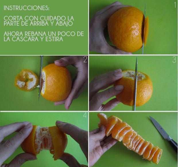 Alimentos que has pelado mal toda tu vida. Como pelar una naranja o mandarina