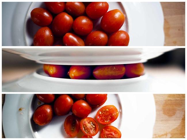 Alimentos que has cortado mal toda tu vida. Como partir tomates cherry