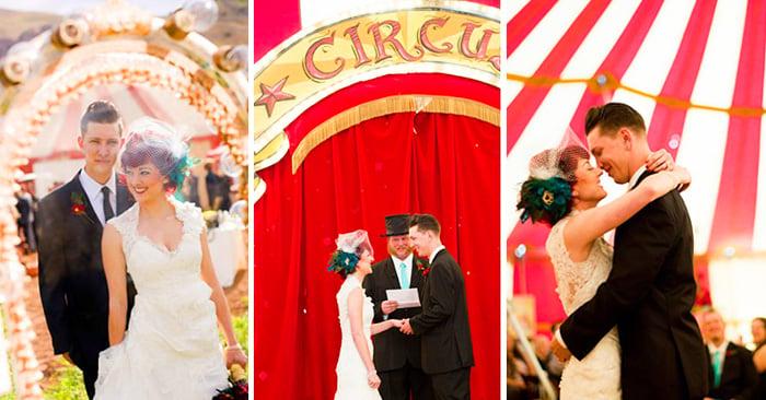 Hermosa boda inspirada en el estiló vintage y el circo