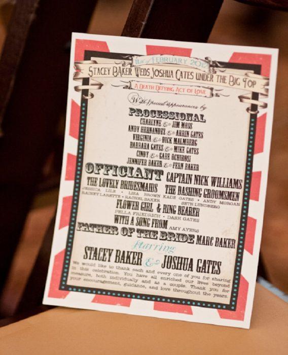invitaciones boda circo vintage