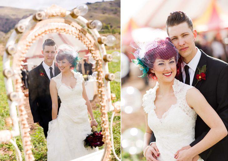 novios boda circo vintage
