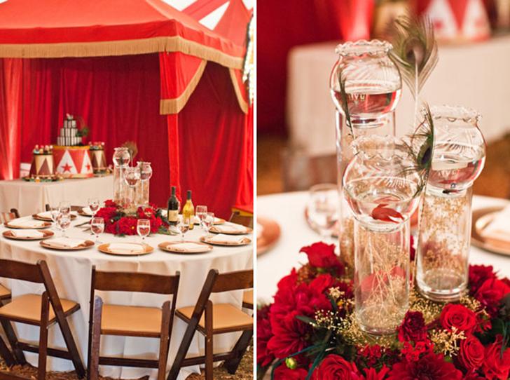 detalles decoración boda circo vintage