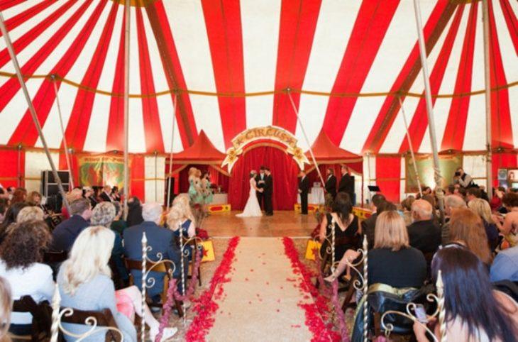 boda circo vintage