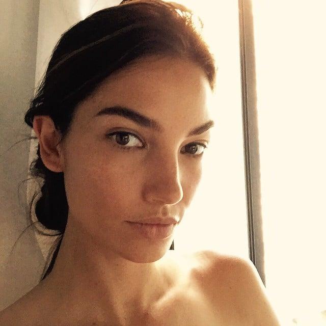 Modelo de victoria secret Lily Aldridge sin maquillaje