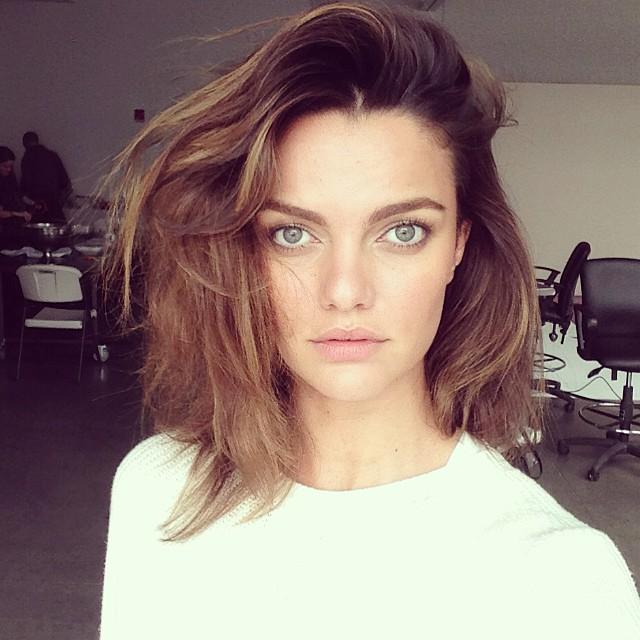 Modelo Barbara Fialho sin maquillaje
