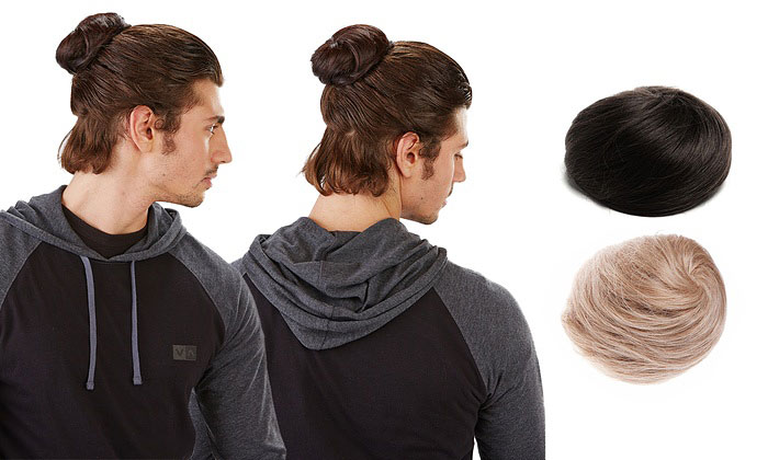 Nueva tendencia de clips de cabello postizo para hombres
