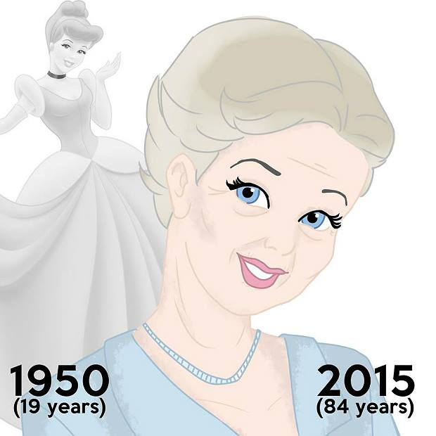 Princesas de Disney envejeciendo. La cenicienta