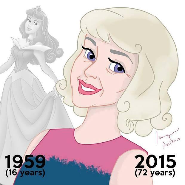 Princesas de Disney envejeciendo. Aurora