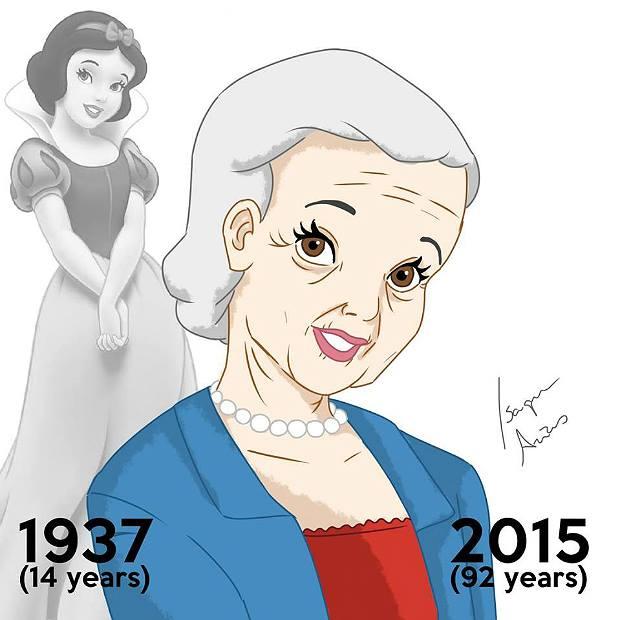 Princesas de Disney envejeciendo. Blanca Nieves