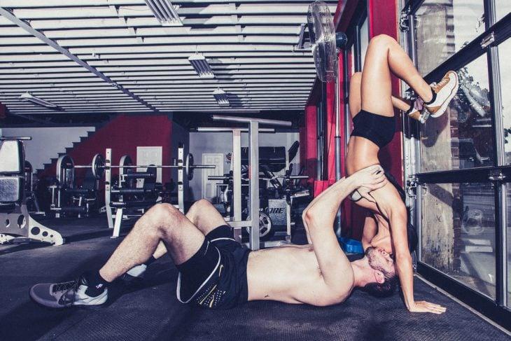 Pareja en el gym