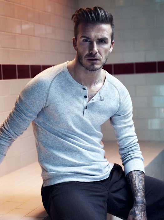 David Beckham con mirada cautivante