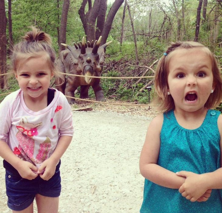 Girls react differently to dinosaurs