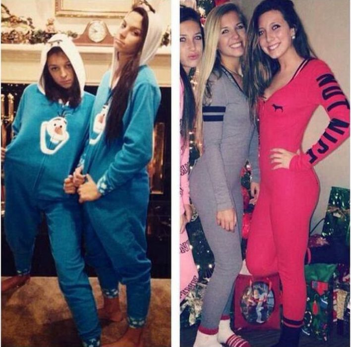 There are two kinds of girls when wearing pajamas
